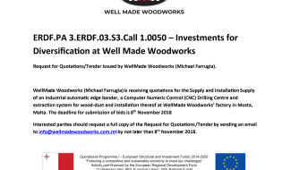 REQUEST FOR QUOTATIONS/TENDER malta, Well Made Woodworks malta